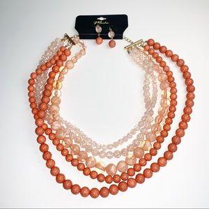 Bundle 2pcs of beaded layered necklace